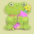 青蛙雨伞架家具01 毛线卡比