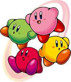 Kirby's Red Blue Green Yellow