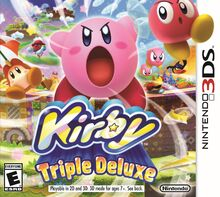 Kirby Triple Deluxe Box Art (NA)