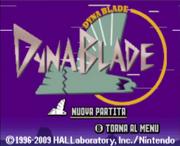 Dyna Blade titolo