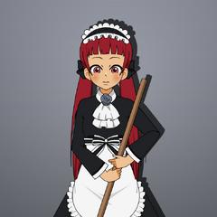 My OC Jun as a maid