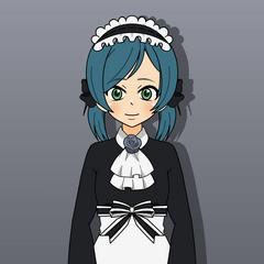 Kaori as a maid
