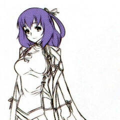 A full-length sketch of Rixia from <i><a href=