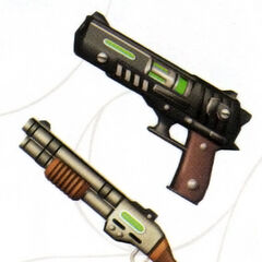 Concept art for Dudley's weapon.