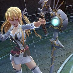 Alisa using her bow in <a href=