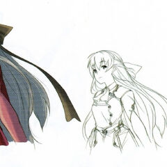 A portrait sketch of Elie.