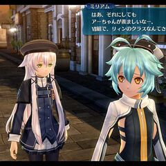 A screenshot of Millium walking alongside <a href=