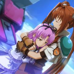 Estelle hugging Renne (EVO)