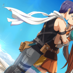 Estelle and Joshua kissing