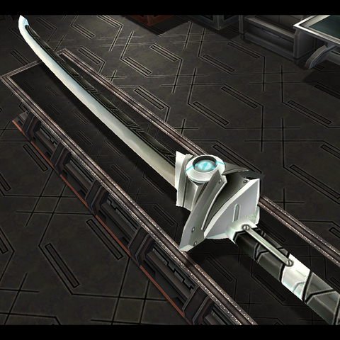 A weapon made from, pure Zemurian Ore crystals.