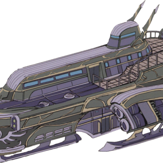 Concept art of Rufus' private airship