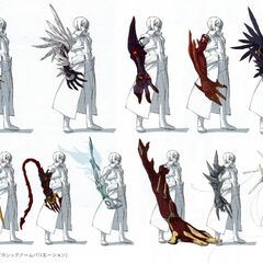 Concept art of Wazy's Akashic Arm.
