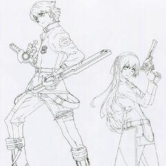 Line sketches for Lloyd & Elie.
