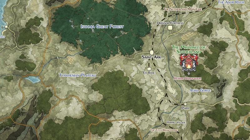 Sutherland Province - Map (Sen III)