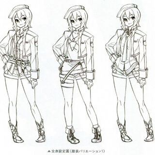 Concept art of Noel's outfit