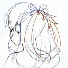Concept art for Rixia's hair