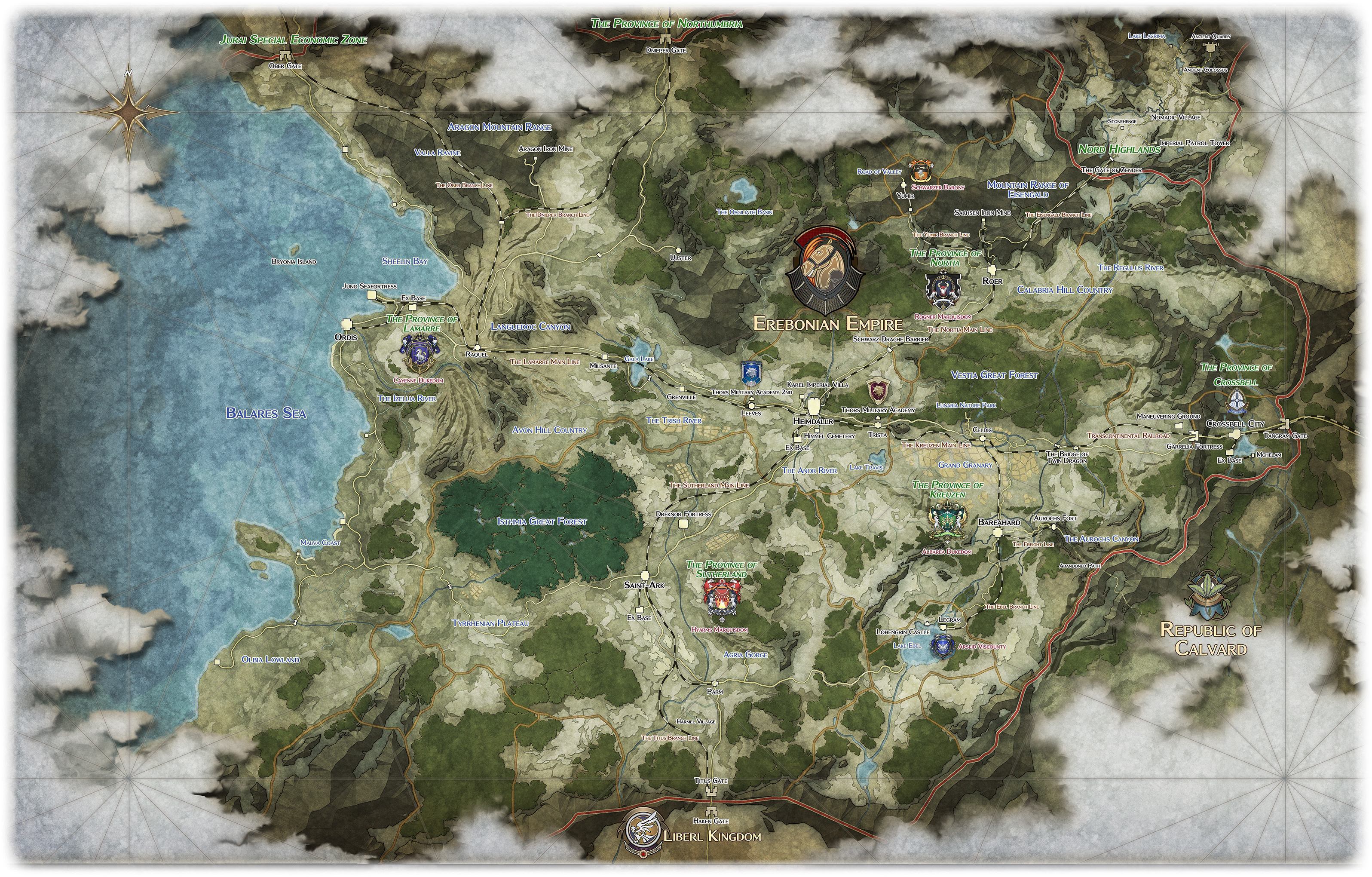 Trails Of Cold Steel World Map.Need Some Info About Lloyd Falcom