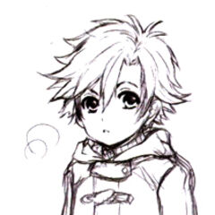 Concept art - young Rean