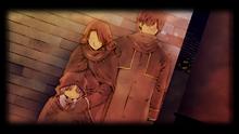Harold, Sophie, Renne Hayworth as refugees (Zero)