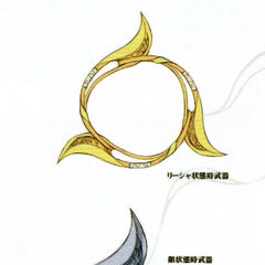 Concept art for Rixia's weapons