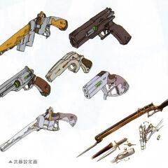 Concept art for Elie's weapon.