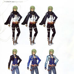 Concept art for Wazy's outfit.