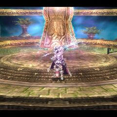 Arianrhod preparing for battle to defend the <a href=