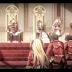Class VII getting an audience with the Imperial Family at Valflame Palace