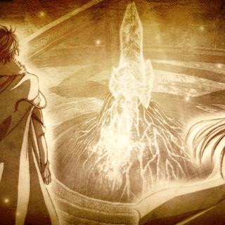 Memory: Dreichels and Lianne Sandlot near a Zemurian Ore crystal in a Spirit Shrines|Spirit Shrine (<i><a href=