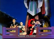 Chiaki hug Zenki anime