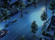 Streets outside Gotou Mansion anime