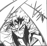 UG Zenki avoiding an attack manga