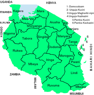 Copy of Tanzania Mikoa