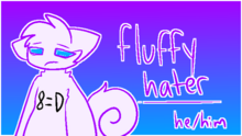 Fluffy hater by kittydogcrystal-dchffyy