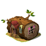 Hollow log house last