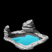 Soaking pool rocks last
