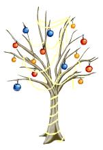 Ornamented snow tree last