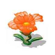 Glass flower orange premium last