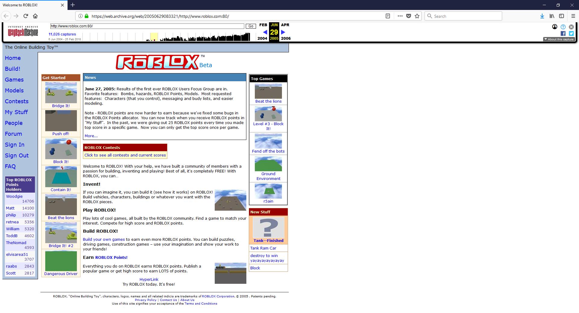 Roblox 2005 | Klasky678 Wiki | Fandom