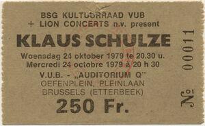 1979-10-24 Audimax, Brussels, Belgium