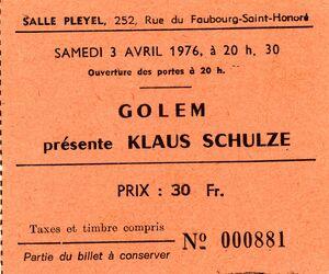 1976-04-03 Salle Pleyel, Paris, France