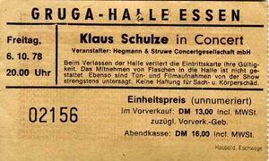 1978-10-06 Grugahalle, Essen, Germany