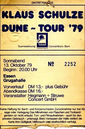 1979-10-13 Grugahalle, Essen, Germany