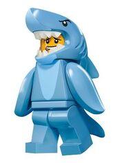 Człowiek w Stroju Rekina 2 twarz