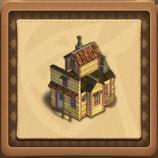 House with an attic framed