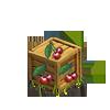 Box with cherries