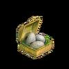 Ostrich egg basket