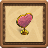 Golden valentine framed