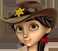 Clo-Cowboy hat blackhair
