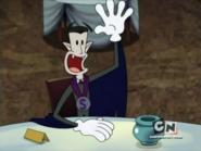 Count Spankulot waving hand